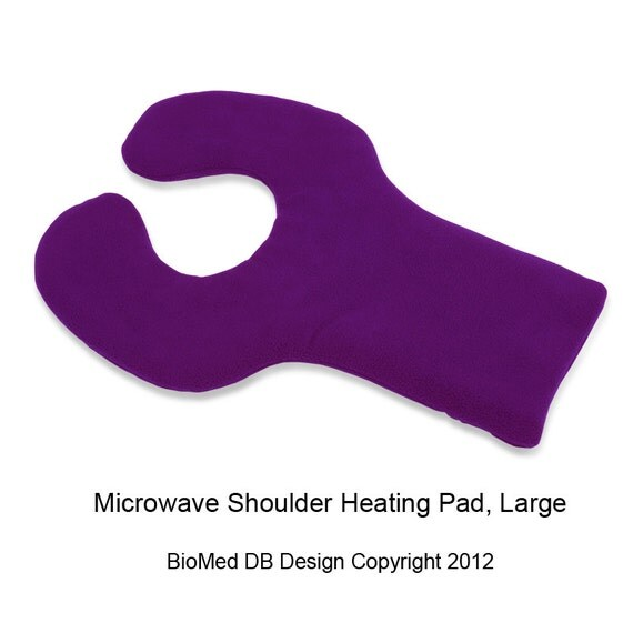 Purple Microwave Hot Cold Pad For Shoulder Upper Back, Heating Wrap, Moist Heat, Washable, Large