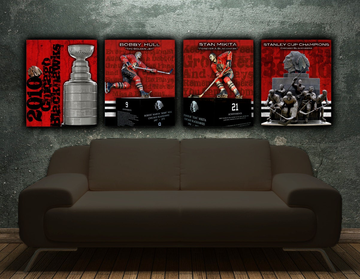 Chicago Blackhawks Single Canvas art Print Stanley Cup