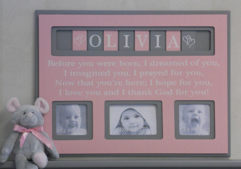 Grozgig custom baby picture frames fotos benutzerdefinierte personalized baby decor best baby decoration negle Gallery