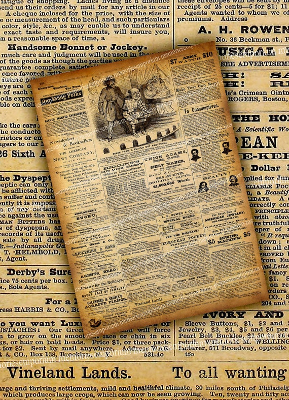 old ads newspaper full page antique papers by memoriesemporium