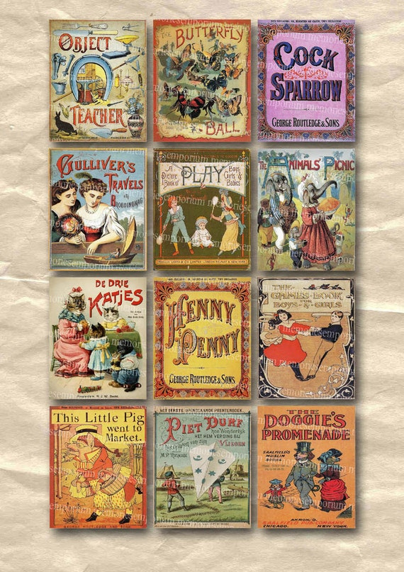 Children S Book Cover Canvas Art : Childrens story book covers old vintage kids picture
