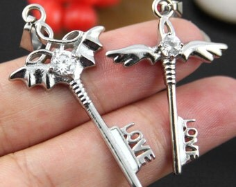 Smaller One- Winged Key Stainless Steel Pendant
