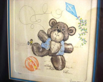 Teddy Bear Art - Signed and Numbered