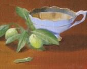 Citrus Tea - Original Oil Painting