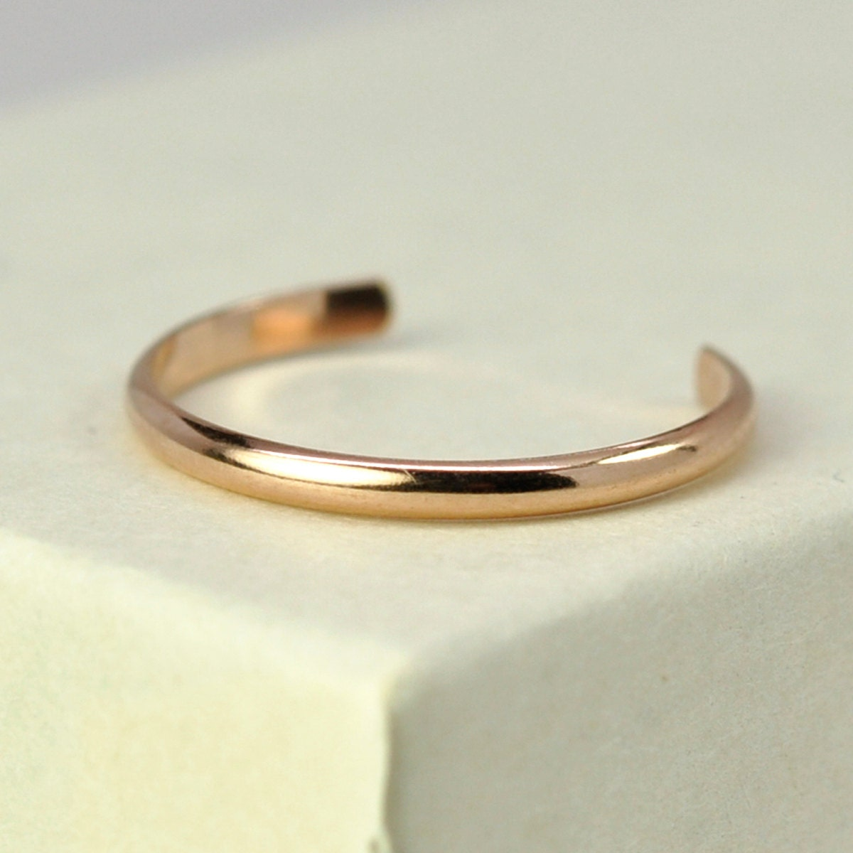 adjustable gold toe ring simple stacking ring