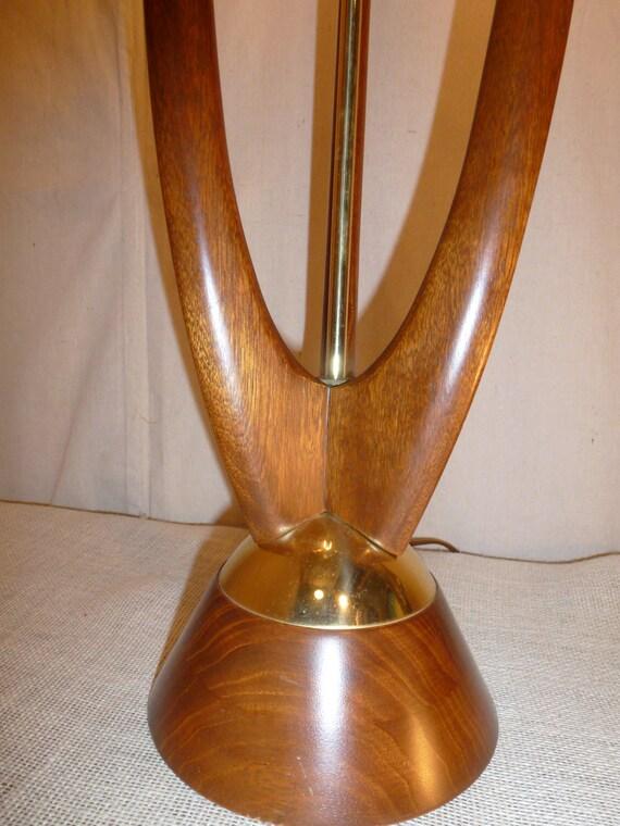 mid century danish modern lamp wood lamp danish design