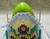 Pink Plastic Canvas Egg Easter Basket