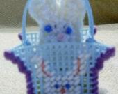 Blue Easter Bunny Peek A Boo Basket