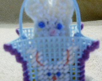 Blue Easter Bunny Peek A Boo Basket