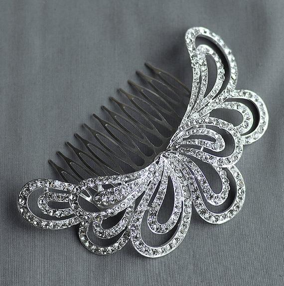 SALE Bridal Headpiece Tiara Headband Rhinestone Hair Comb Accessory Wedding Jewelry Crystal Flower Side Tiara CM070LX