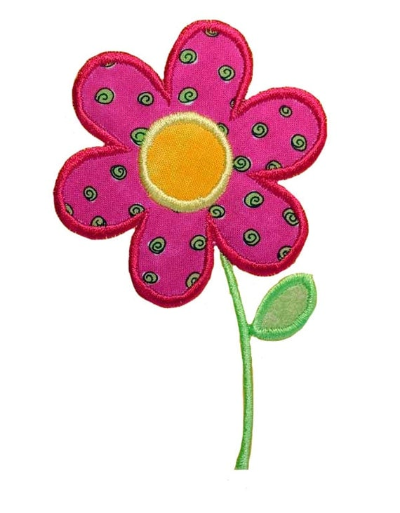 Items similar to flower applique embroidery machine design