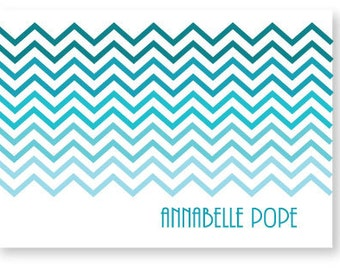 Ombre Chevron Customizable Stationery Note Card