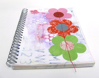 Sale - Mixed media Art  journal - smash book - stash album - diary - Notebook