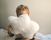 White Cloud Pillow -  One Small Fluffy Cloud - perfect for kid's room or baby nursery