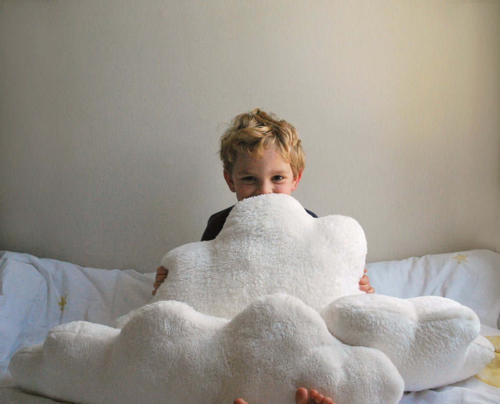 White Fluffy Cloud Pillows Set Of 3 Clouds By Babycricket