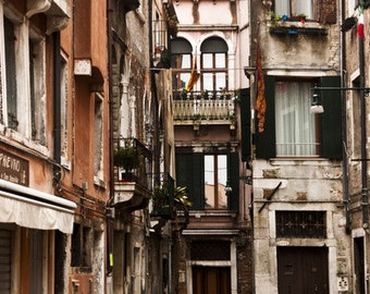 Venice Photography, In the Rain, Venice, Italy 8x10 Photograph cityscape, colorful, travel photography,