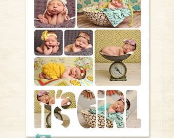 Newborn Storyboard Template 11x14 Photography Templates for Photographers - S116