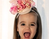 Flower Girl hat,  Easter, Spring, Tea party, Photo Prop, Wedding, Fascinator - Fancy Nancy - CUSTOM ORDER
