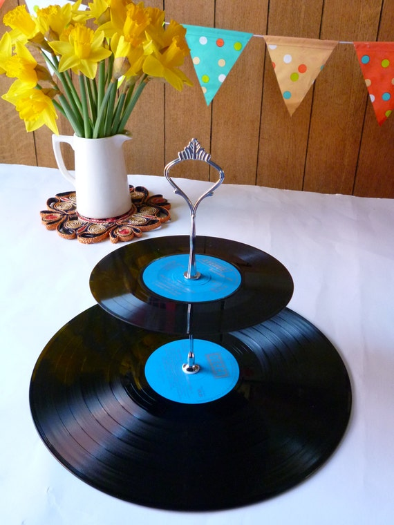 Music Themed Wedding Party Cakestand 2 Tier By WhenTheMusicsOver
