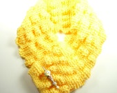 Soft Yellow Scarf with Ice Cream Cone Lampwork Pin