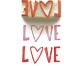 SALE Give A Lot of Love - Cling Rubber Stamp - Ready to Ship