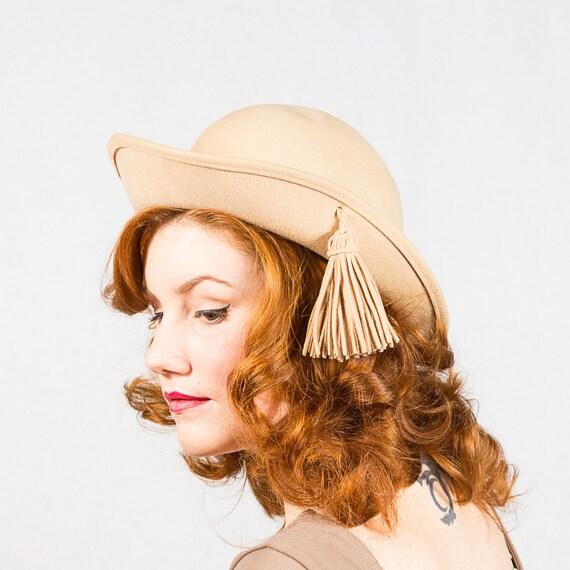 50% OFF SALE / vintage 1970s hat / wool hat / Tom Hann