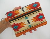 Southwestern Tribal Zipper cell phoneWallet/ Gadget wallet/accessory pouch/Coin pouch-4 pockets