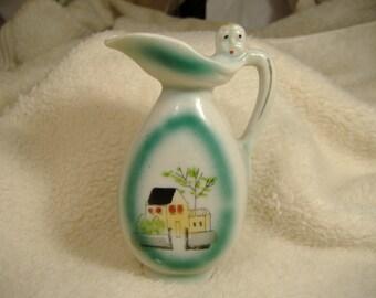 Vintage 1960s Japan Hand Painted Porcelain Bottle