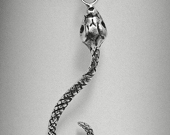 PE000871 Sterling Silver Pendant Solid 925 Snake