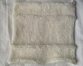 Barely Off White Soft Wool Cowl