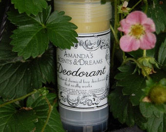All Natural chemical free deodorant 2 oz. twist up tube