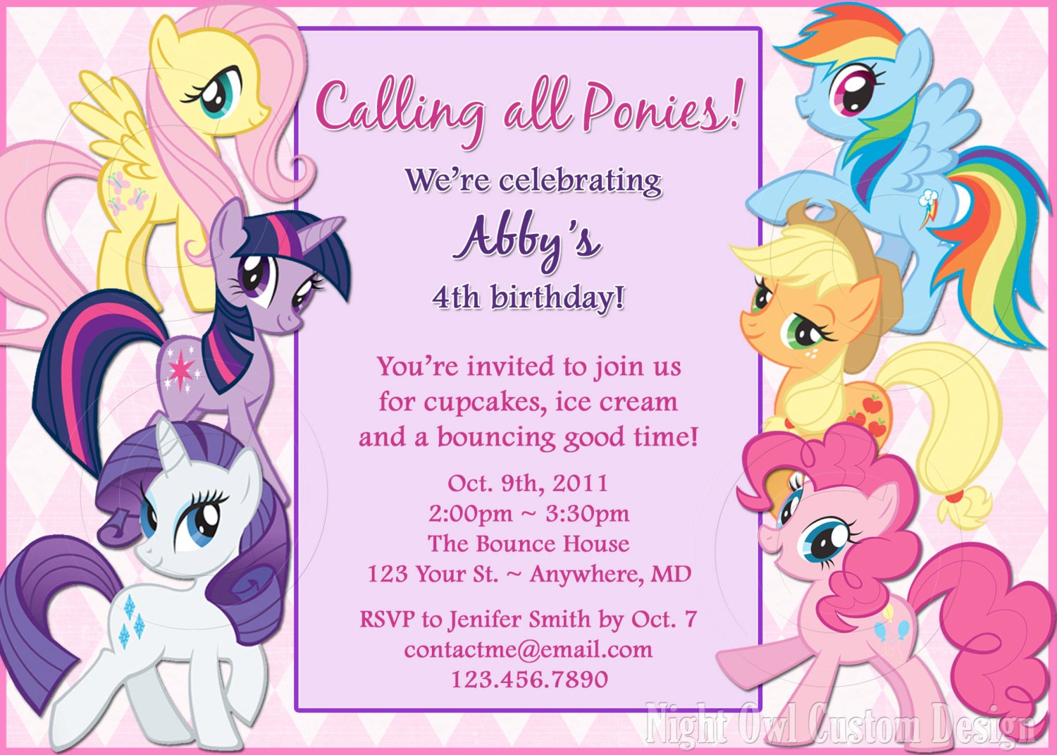 Selective image within my little pony invitations free printable