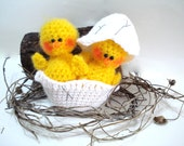 PATTERN, Crochet Pattern, PDF Crochet Amigurumi Chicks, Tutorial, Easter Pattern, Instant Download