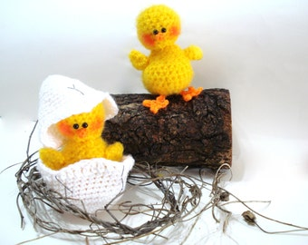 PATTERN, Amigurumi Pattern, PDF Crochet Amigurumi Chicks, Tutorial, Easter Pattern - Instant Download