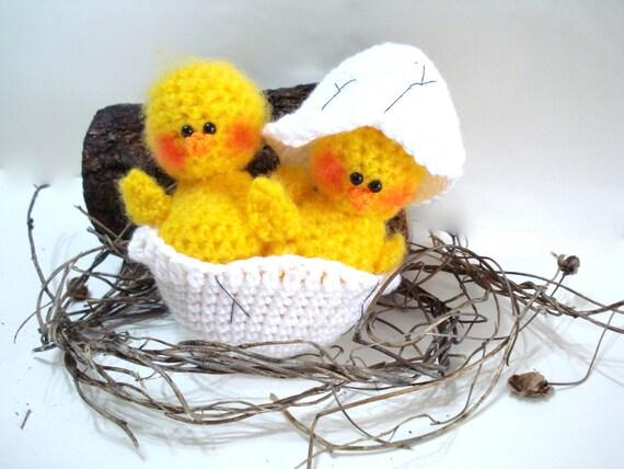 Amigurumi Hatching Easter Chicks : Items similar to PATTERN, Crochet Pattern, PDF Crochet ...