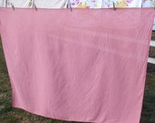 Vintage Tablecloth Pink Rose Salmon Coral Linen Vintage Kitchen Tablecloth Six Matching Napkins reserved for Selena