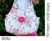 "INSTANT DOWNLOAD - Handbag Sewing Pattern - PDF- ""Bella"" by ChrisW Designs"