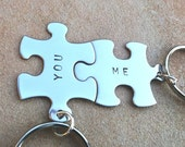 Puzzle key chains, love key chains, you and me, couple key chain, mother daughter,puzzle, personalized key chains,gift for him,natahaaloha