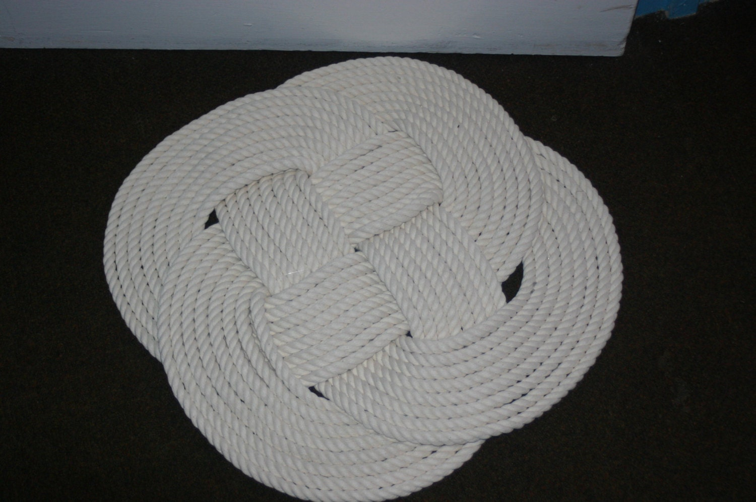 21 round pure cotton rope rug bathmat soft tightly knotted for Rope bath mat