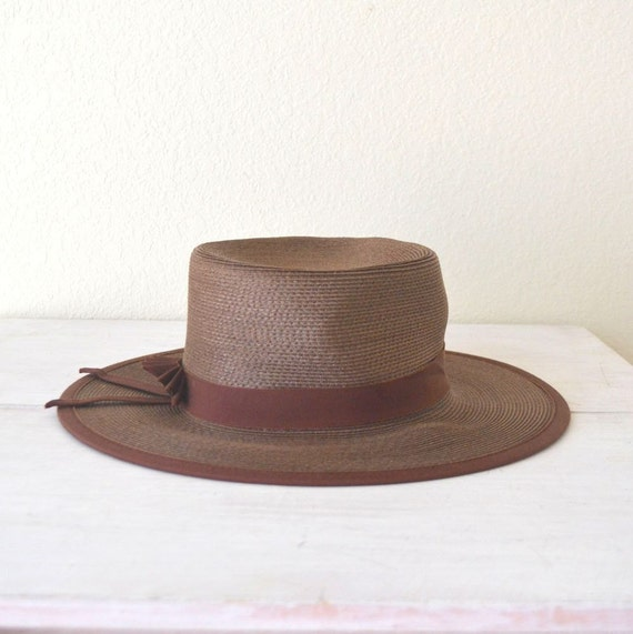 womens straw boater hat beresford vintage by