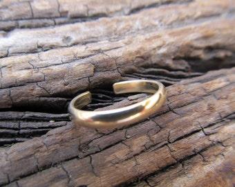 Tribal TOE RING 14k Gold Filled Adjustable