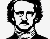 Hand Cut Edgar Allan Poe Paper Cutting Framed 8 X 10