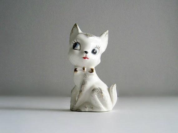 Mid-Century White Deer Figurine