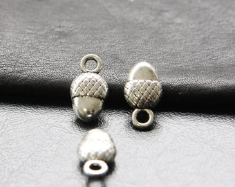 12pcs / Acorn / Nut / Oxidized Silver / Charms / 18x10mm  (XA960//A190)