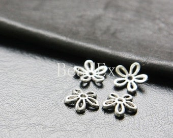 60pcs / Bead Cap / Oxidized Silver / Base Metal / 10mm (YA1438//A288A)
