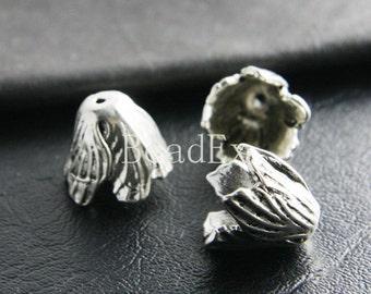 6pcs / Bead Cap / Cone / Flower / Oxidized Silver / Base Metal / 18x16mm (YA20248//A372)