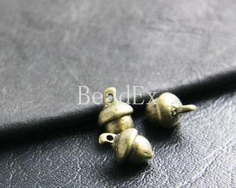 12 Pieces / Acorn / Antique Brass Tone / Base Metal / Charm / 10x15mm  (Y4332//B175)(Y35522)