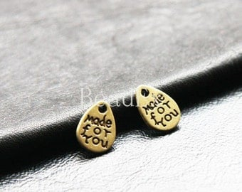 30pcs / Made For You / Tag / Teardrop / Antique Brass  / Base Metal / 11x8mm (YB5193//B201)