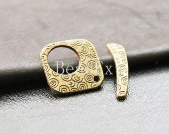 6 sets / Toggle / Antique Brass / Base Metal  (YB12462//D97)