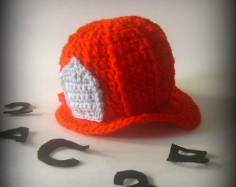 Baby's Firefighter Hat   Size: 3 to 6 months